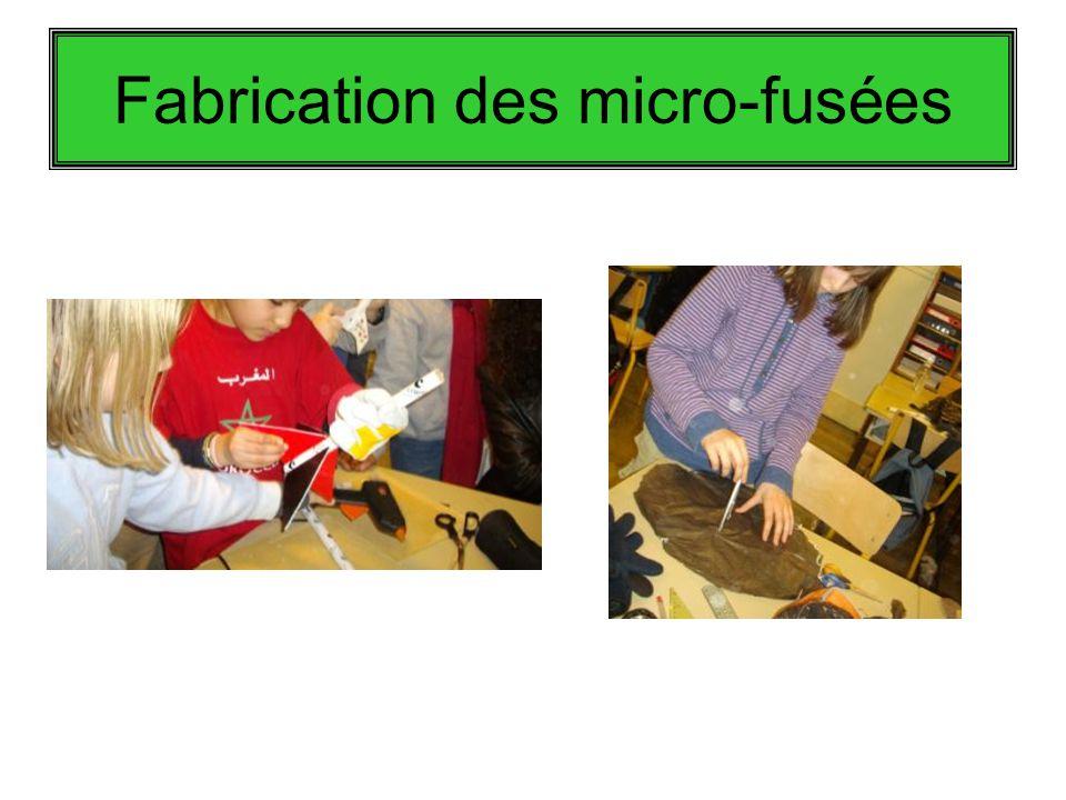 Fabrication des micro-fusées