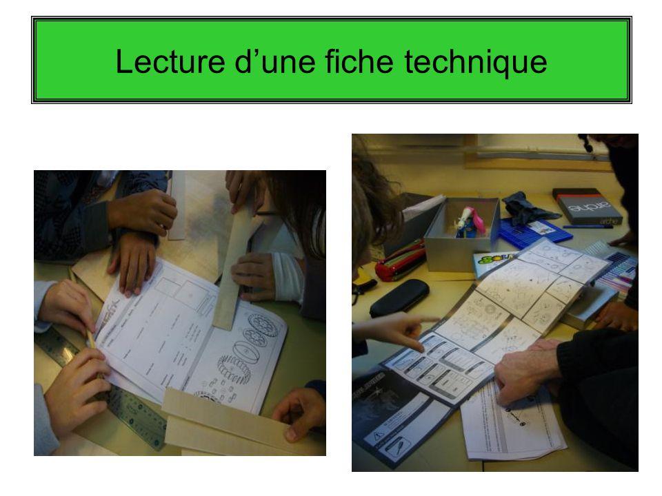 Lecture dune fiche technique