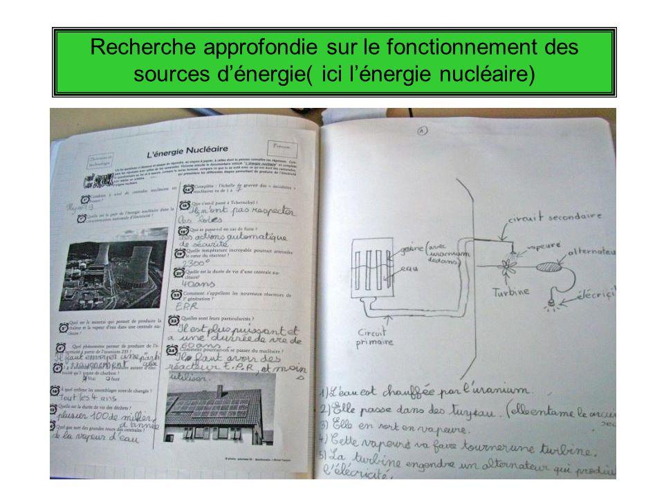 Recherche approfondie sur le fonctionnement des sources dénergie( ici lénergie nucléaire)