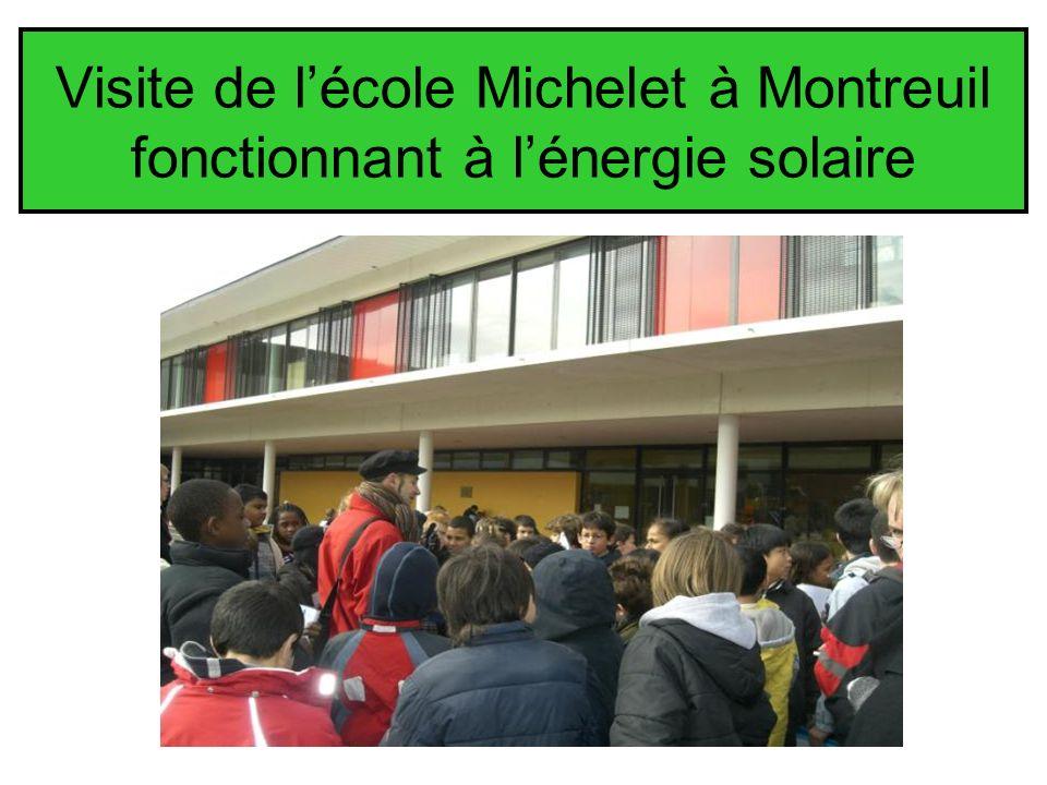 Visite de lécole Michelet à Montreuil fonctionnant à lénergie solaire