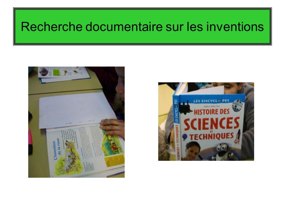 Recherche documentaire sur les inventions