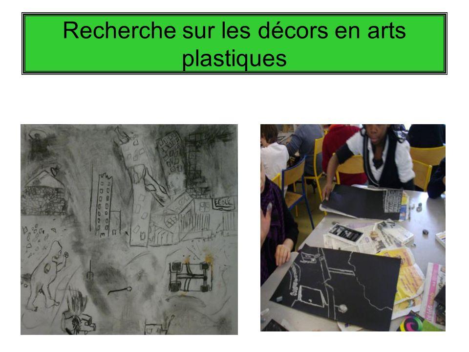 Recherche sur les décors en arts plastiques