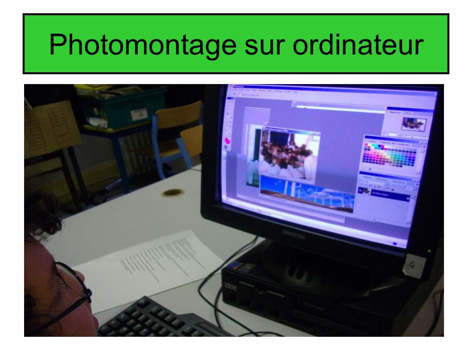Photomontage sur ordinateur