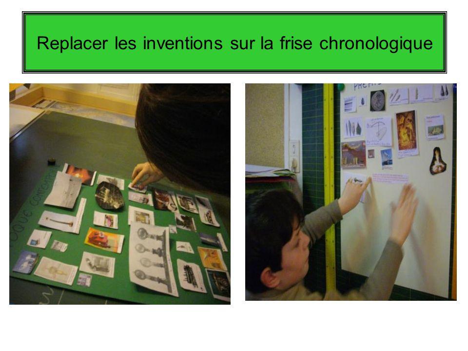 Replacer les inventions sur la frise chronologique
