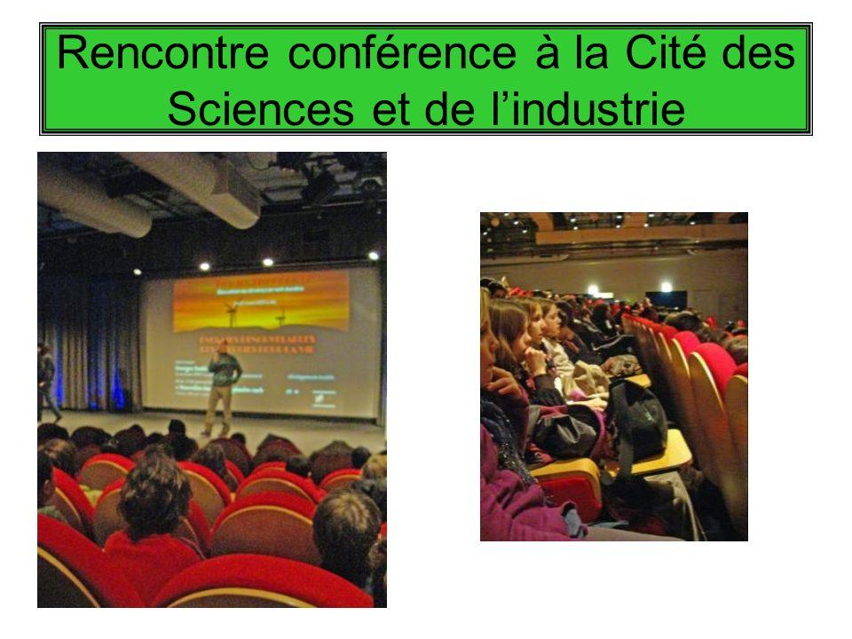 Rencontre conférence à la Cité des Sciences et de lindustrie