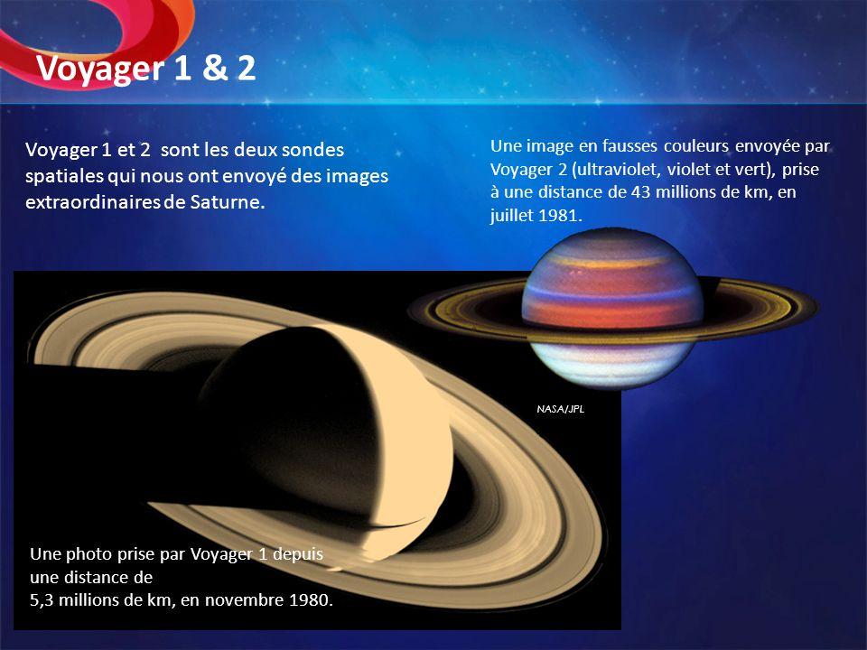 NASA/JPL Une image en fausses couleurs envoyée par Voyager 2 (ultraviolet, violet et vert), prise à une distance de 43 millions de km, en juillet 1981