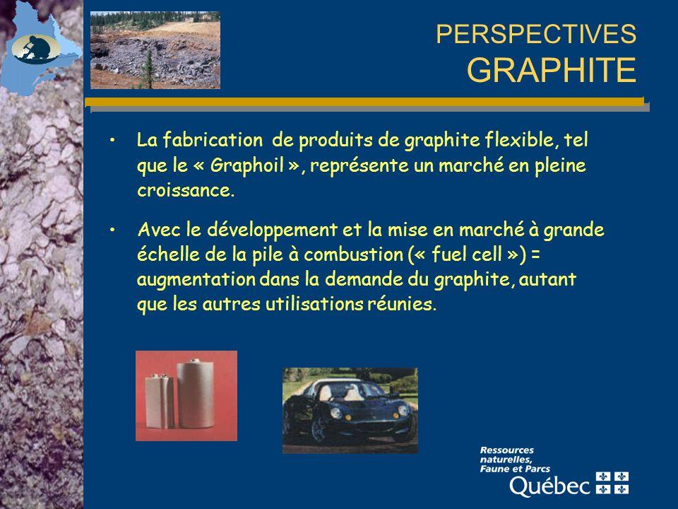 PERSPECTIVES GRAPHITE La fabrication de produits de graphite flexible, tel que le « Graphoil », représente un marché en pleine croissance.