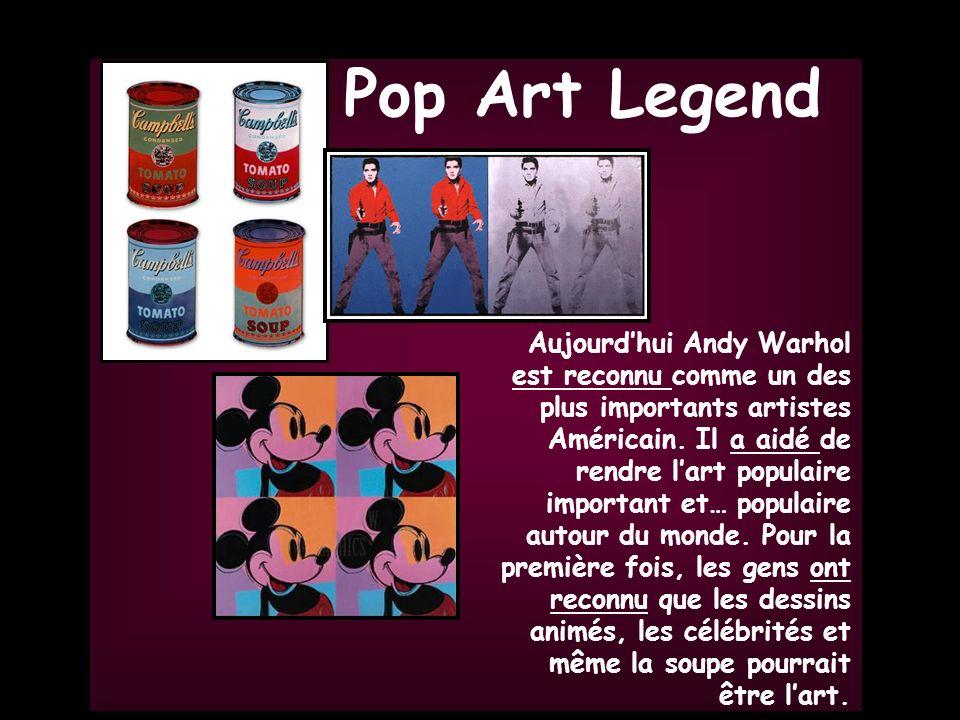 Gr. 5 Grade 5 Aujourdhui Andy Warhol est reconnu comme un des plus importants artistes Américain. Il a aidé de rendre lart populaire important et… pop