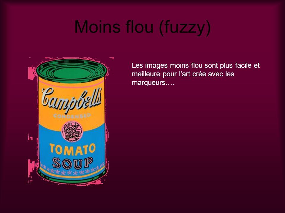 Moins flou (fuzzy) Les images moins flou sont plus facile et meilleure pour lart crée avec les marqueurs….
