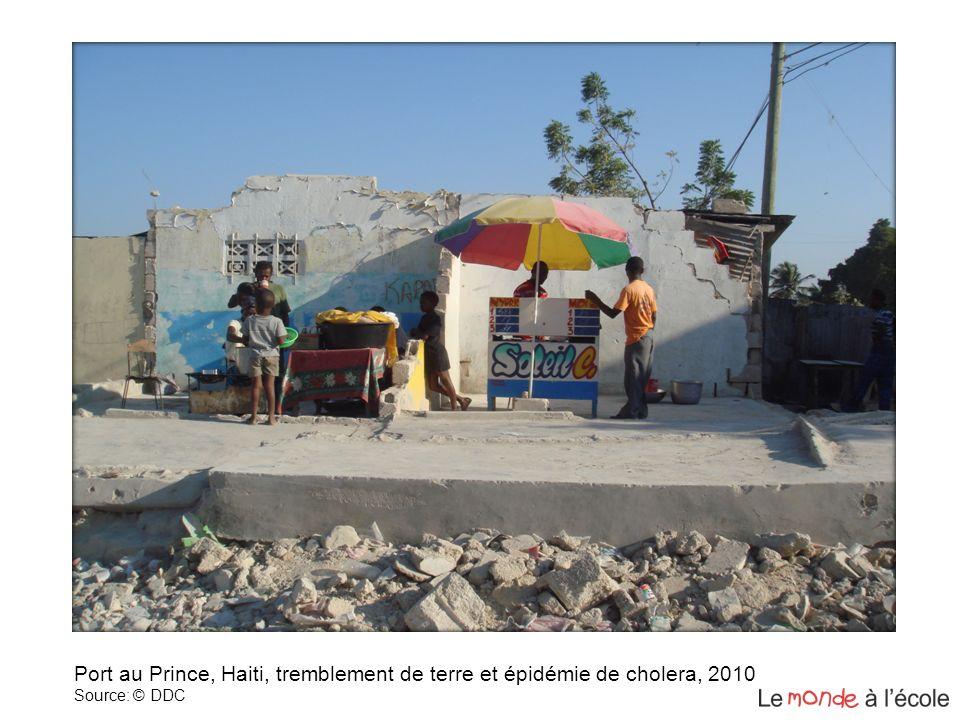 Port au Prince, Haiti, tremblement de terre et épidémie de cholera, 2010 Source: © DDC