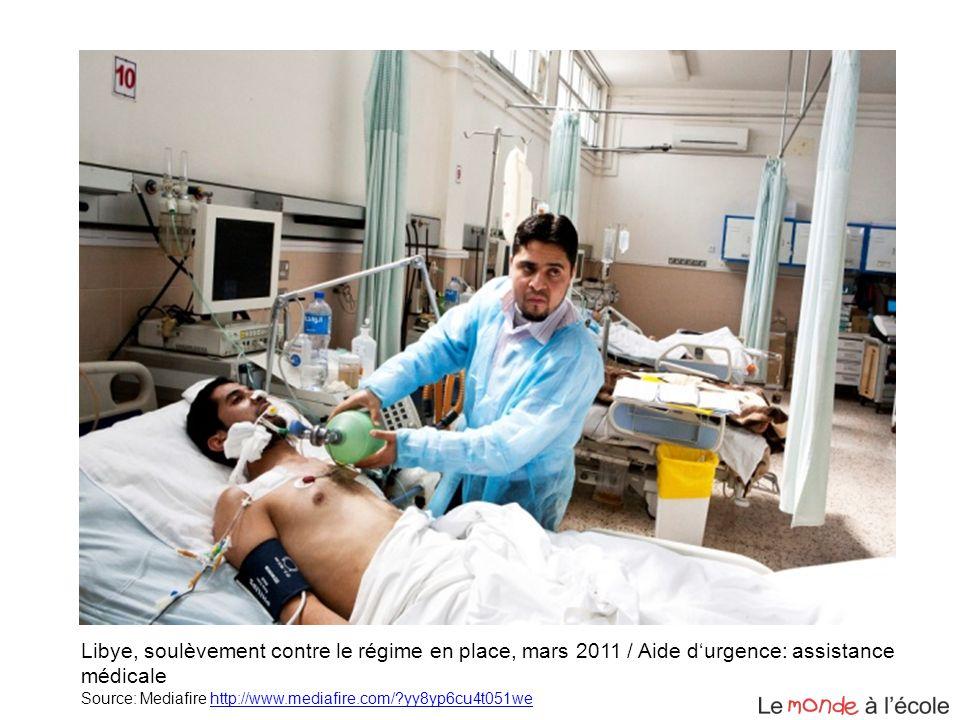 Libye, soulèvement contre le régime en place, mars 2011 / Aide durgence: assistance médicale Source: Mediafire http://www.mediafire.com/?yy8yp6cu4t051
