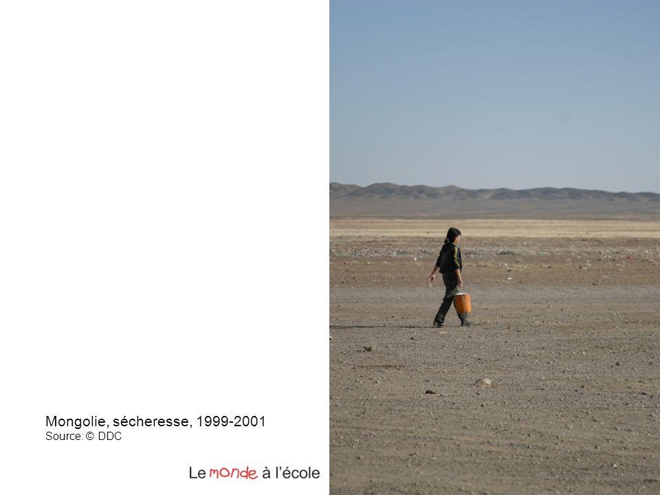 Mongolie, sécheresse, 1999-2001 Source: © DDC