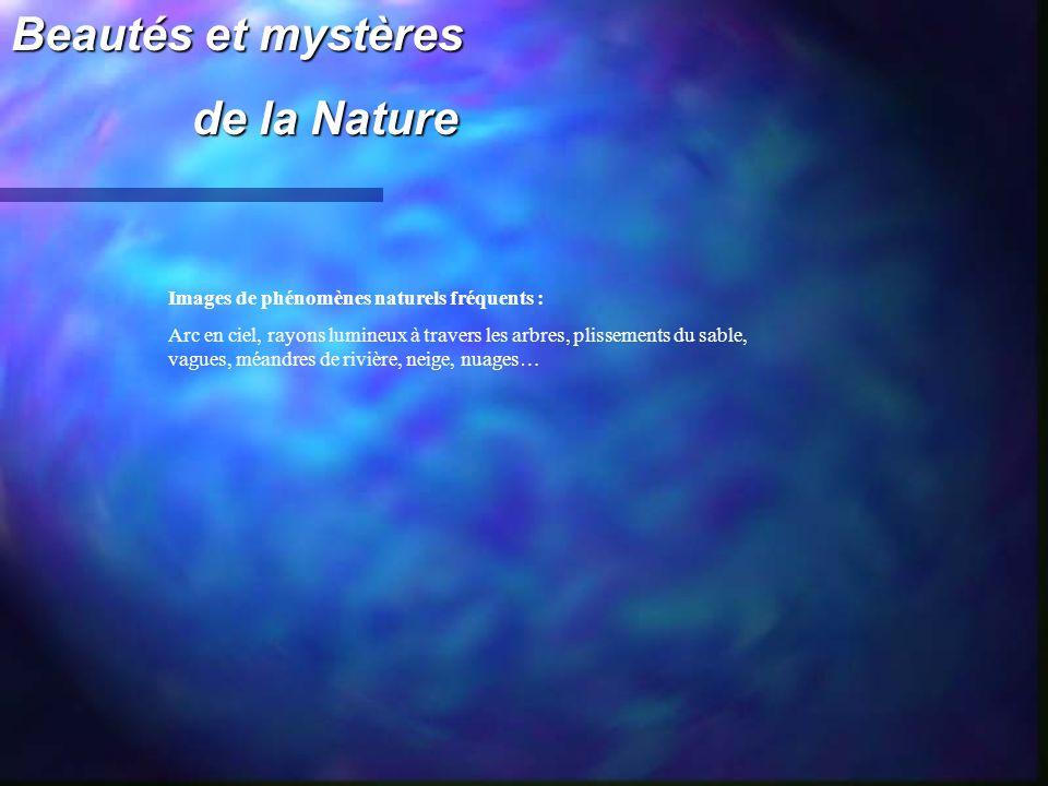 Beautés et mystères de la Nature de la Nature Images de phénomènes naturels fréquents : Arc en ciel, rayons lumineux à travers les arbres, plissements