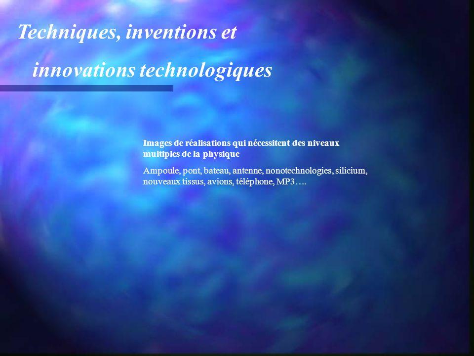 Techniques, inventions et innovations technologiques Images de réalisations qui nécessitent des niveaux multiples de la physique Ampoule, pont, bateau