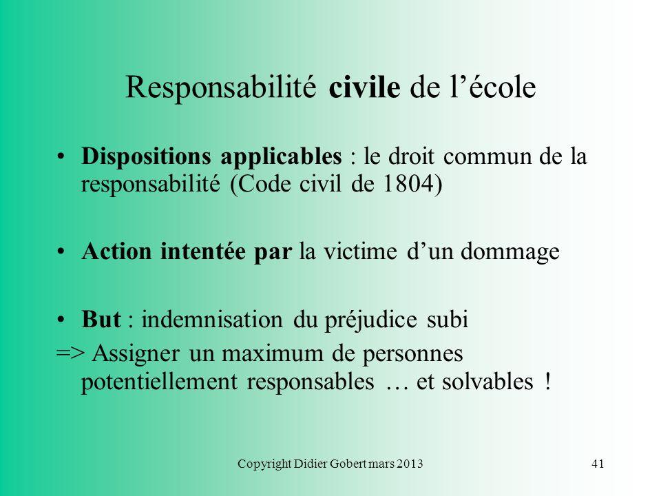 Copyright Didier Gobert mars 201340 La complicité en droit pénal Le fait de fournir les instruments du crime ou du délit + Lintention de participer à