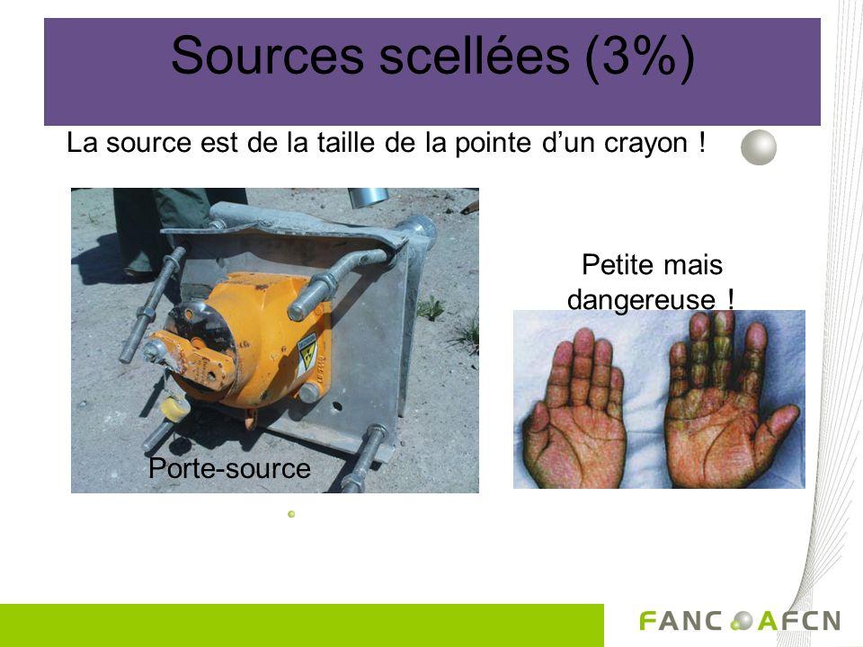 La source est de la taille de la pointe dun crayon ! Petite mais dangereuse ! Porte-source Sources scellées (3%)