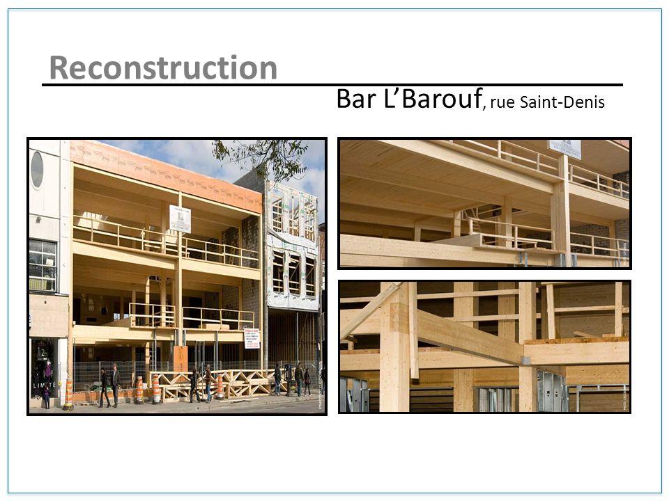 Bar LBarouf, rue Saint-Denis Reconstruction