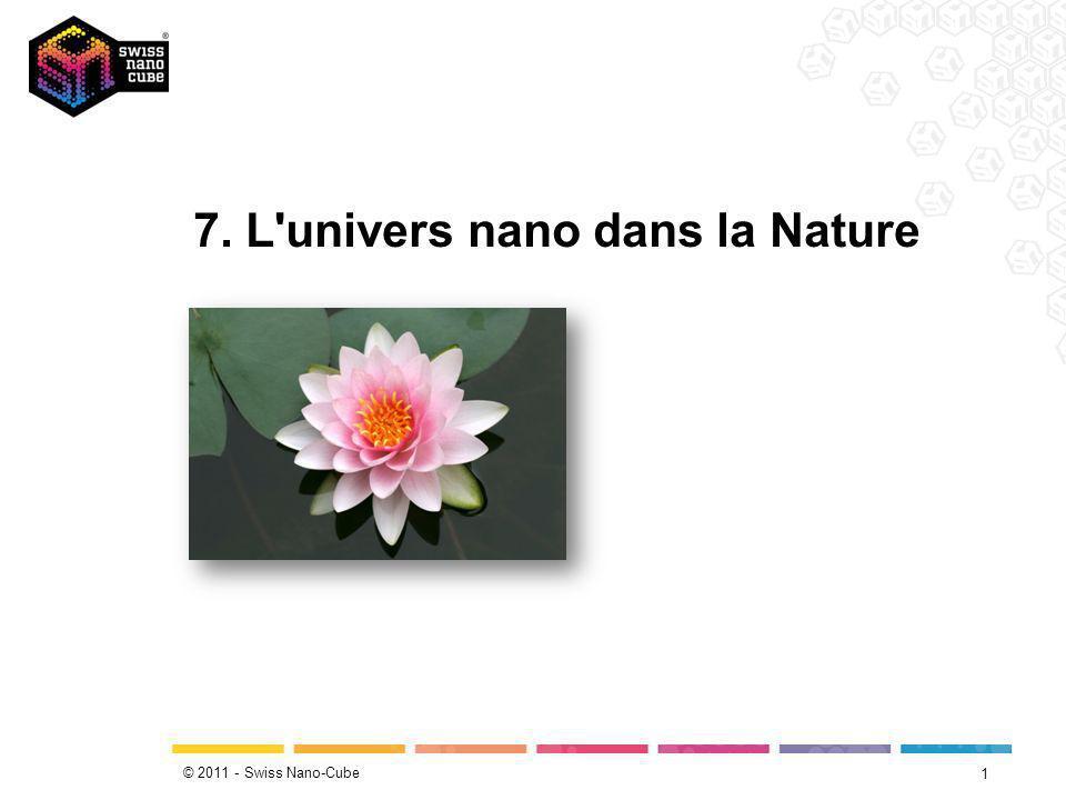 © 2011 - Swiss Nano-Cube Plus jamais sale 2 «L autonettoyage» des feuilles de lotus repose sur la micro- et la nanostructuration de leur surface.