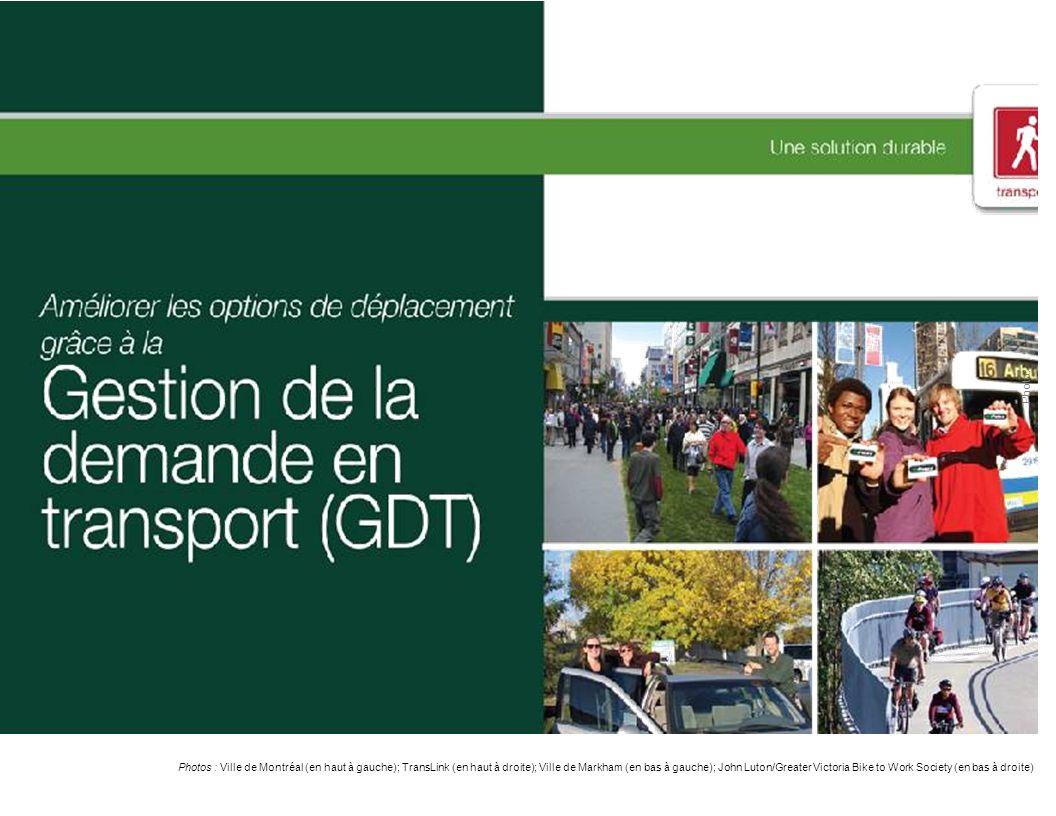 Photo: Photos : Ville de Montréal (en haut à gauche); TransLink (en haut à droite); Ville de Markham (en bas à gauche); John Luton/Greater Victoria Bike to Work Society (en bas à droite)
