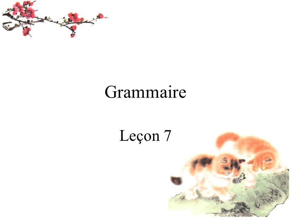 Grammaire Leçon 7
