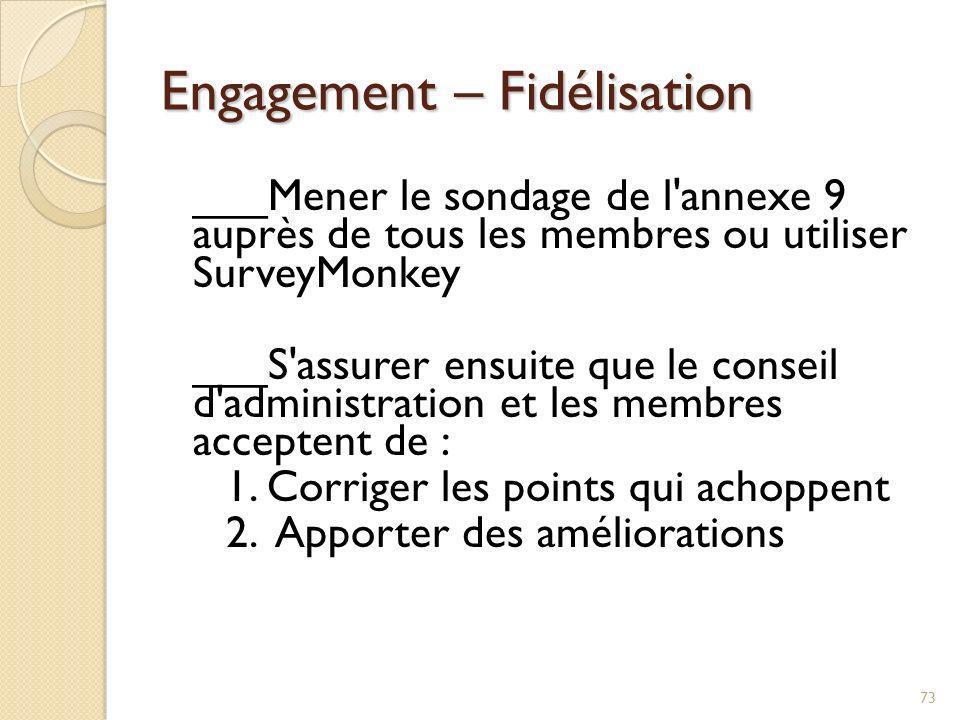 Engagement – Fidélisation ___Améliorer le contenu des réunions 1.