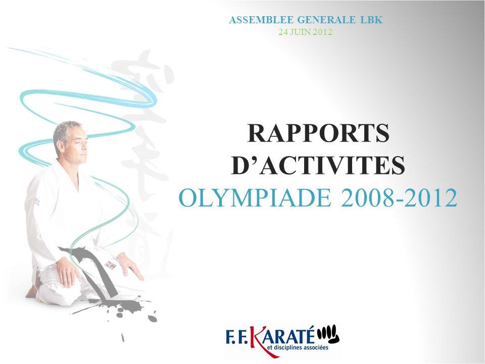 RAPPORTS DACTIVITES OLYMPIADE 2008-2012 ASSEMBLEE GENERALE LBK 24 JUIN 2012