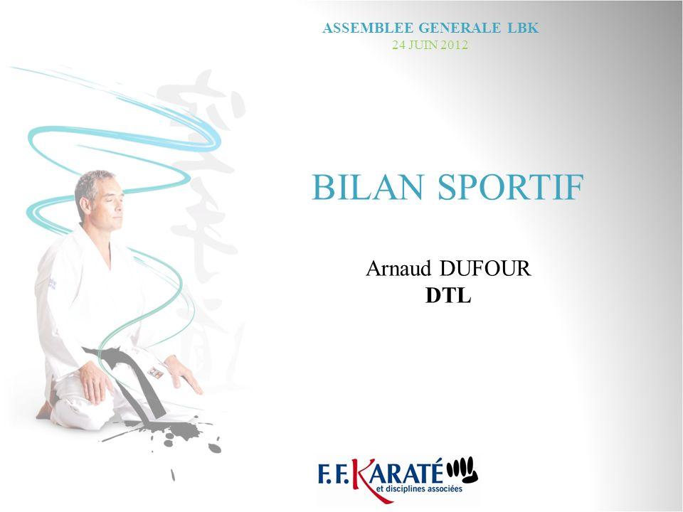 BILAN SPORTIF Arnaud DUFOUR DTL ASSEMBLEE GENERALE LBK 24 JUIN 2012