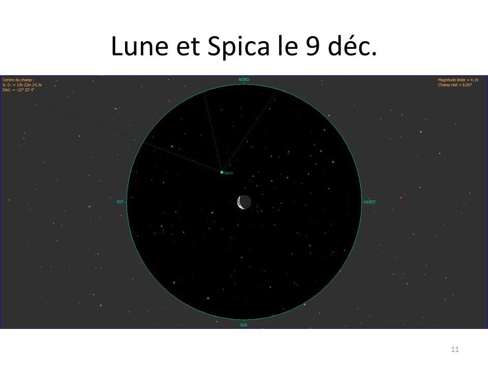 Lune et Spica le 9 déc. 11
