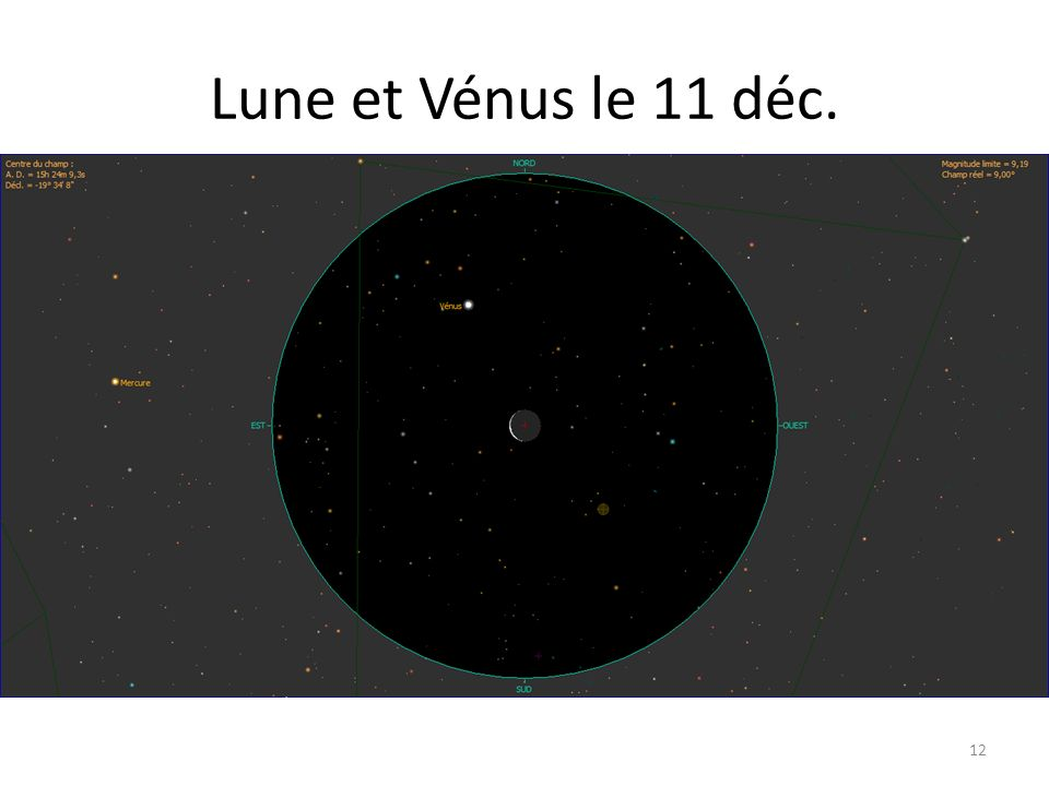 Lune et Vénus le 11 déc. 12