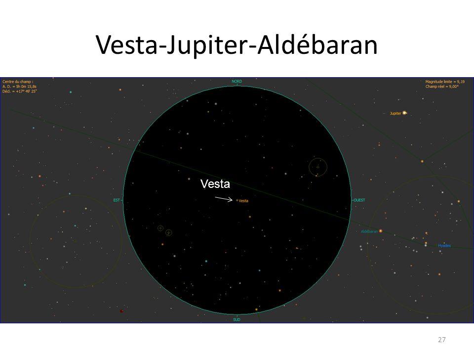 Vesta-Jupiter-Aldébaran 27 Vesta