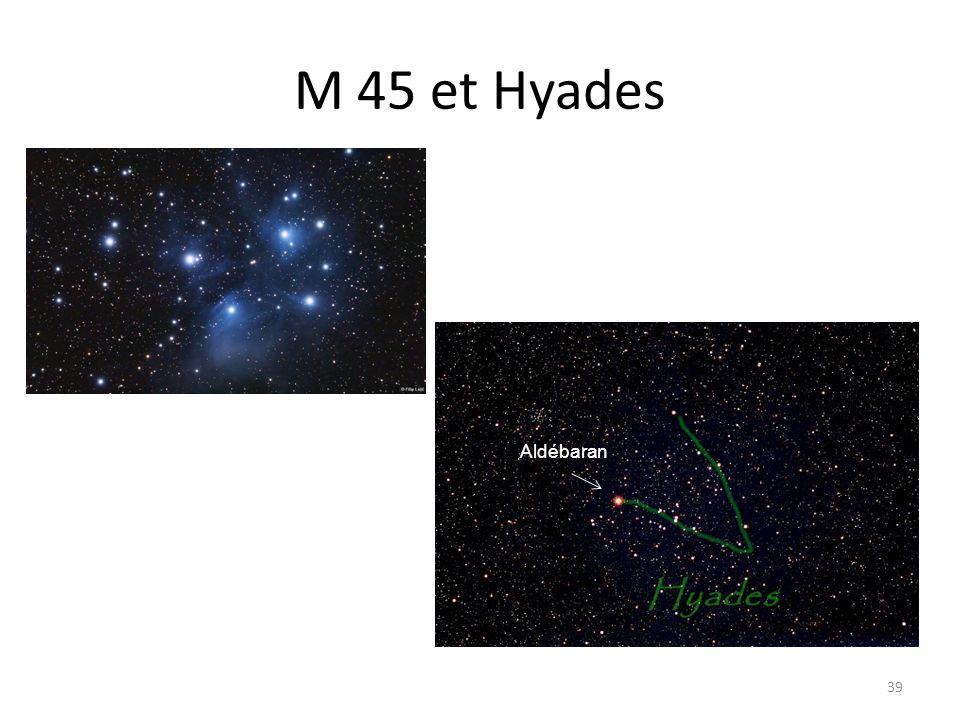 M 45 et Hyades 39 Aldébaran