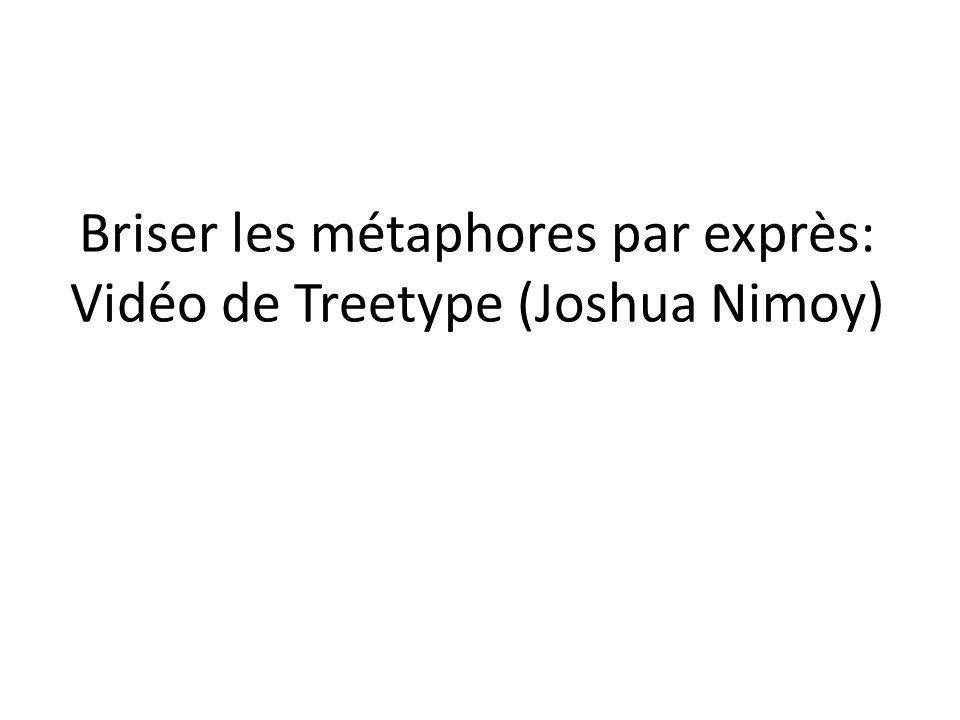 Briser les métaphores par exprès: Vidéo de Treetype (Joshua Nimoy)