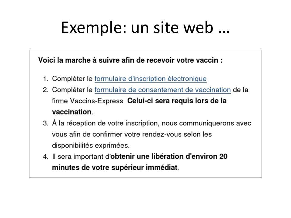Exemple: un site web …