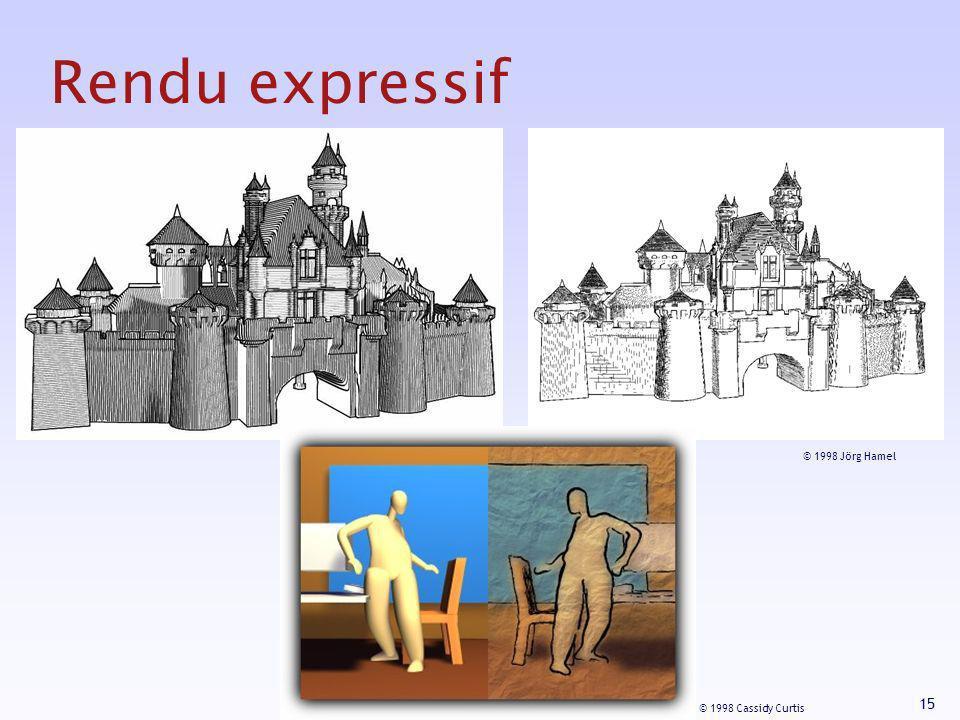 15 Rendu expressif © 1998 Cassidy Curtis © 1998 Jörg Hamel