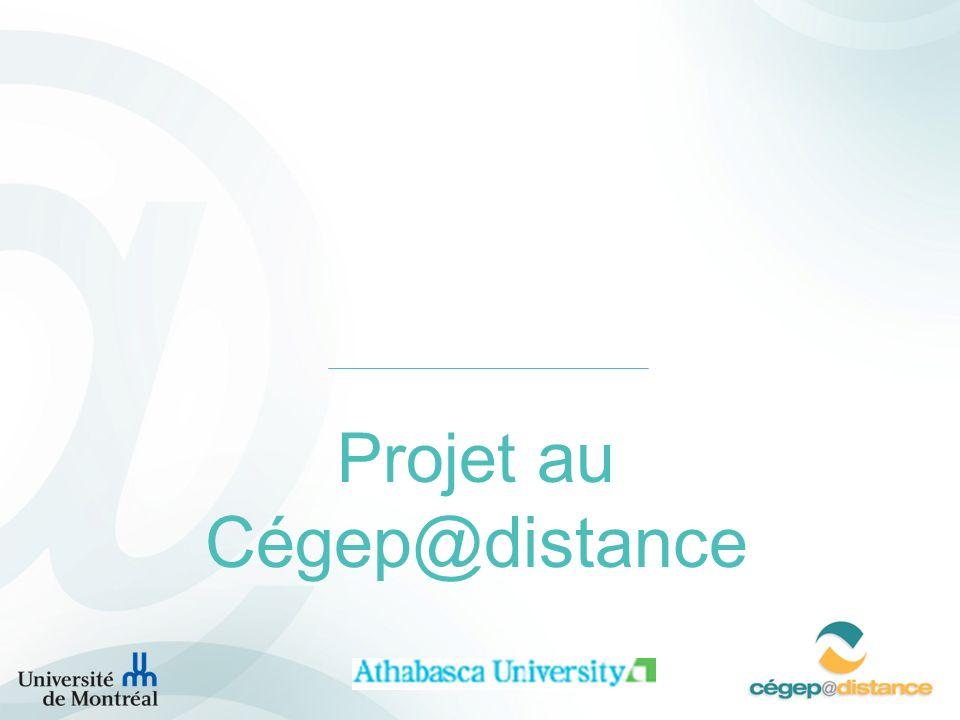Projet au Cégep@distance