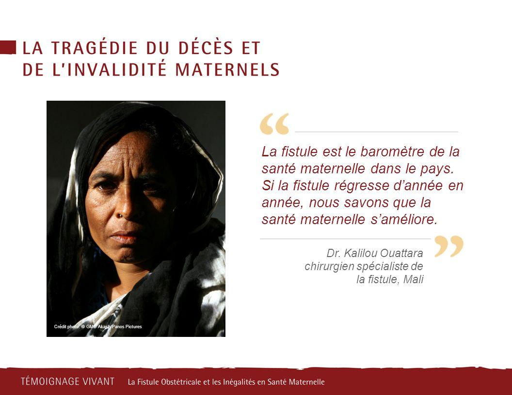La fistule est le baromètre de la santé maternelle dans le pays. Si la fistule régresse dannée en année, nous savons que la santé maternelle saméliore
