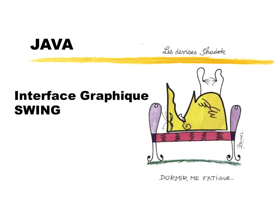 JAVA Interface Graphique SWING