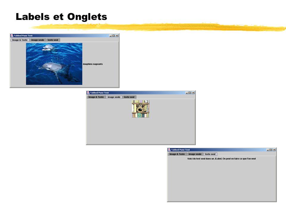 Labels et Onglets