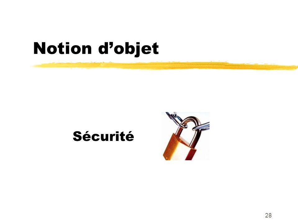 Notion dobjet Sécurité 28