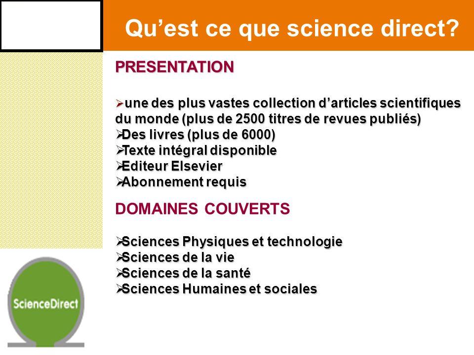 Se connecter à science directConnexion directement sur le site directement sur le site www.sciencedirect.com via le portail documentaire du cird via le portail documentaire du cird (bureau du chercheur) (bureau du chercheur) http://www.ird.bf/cird/