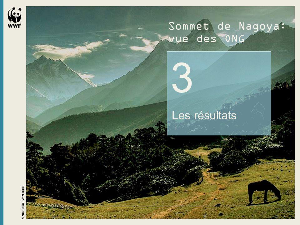3 Les résultats © Murat Selam / WWF Nepal Sommet de Nagoya: vue des ONG