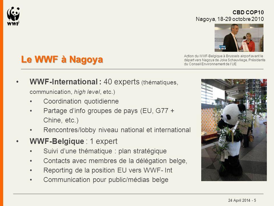 Prochain sommet : Cancun/climat Rendez-vous à Bruxelles le 28/11 On the road to Cancun Press briefing WWF-Belgium