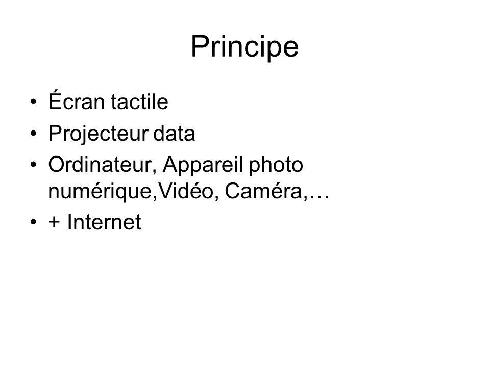 Écran tactile Projecteur data Ordinateur, Appareil photo numérique,Vidéo, Caméra,… + Internet