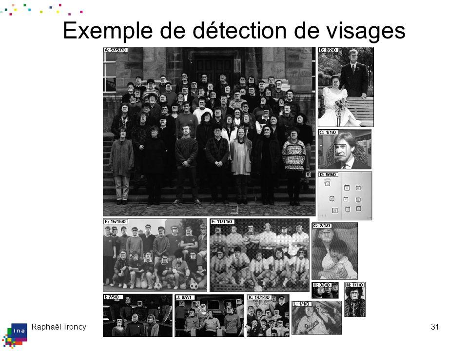Raphaël Troncy09/04/200431 Exemple de détection de visages