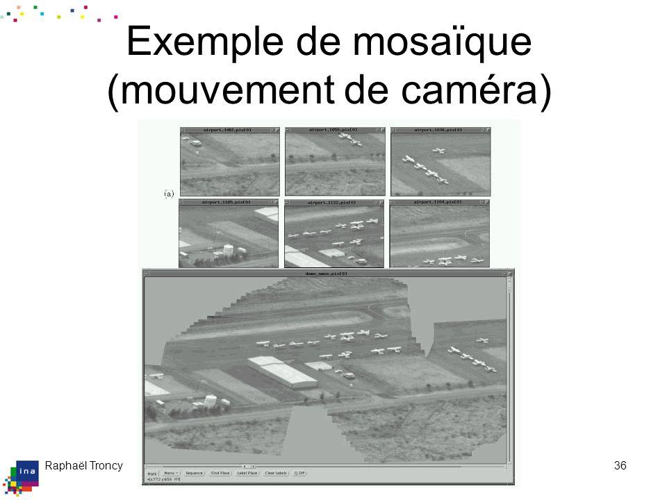 Raphaël Troncy09/04/200436 Exemple de mosaïque (mouvement de caméra)