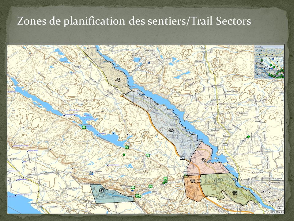 Zones de planification des sentiers/Trail Sectors
