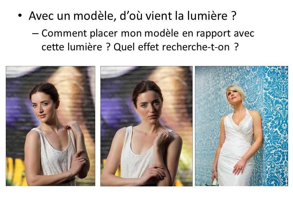 Avec un modèle, doù vient la lumière ? – Comment placer mon modèle en rapport avec cette lumière ? Quel effet recherche-t-on ?