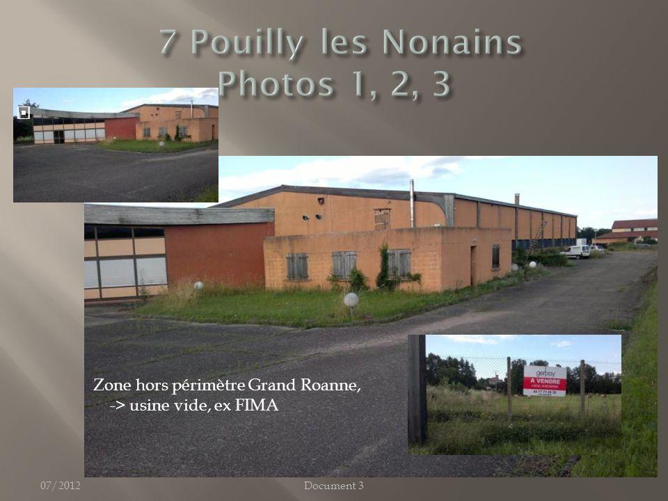 07/2012Document 3 Zone hors périmètre Grand Roanne, -> usine vide, ex FIMA