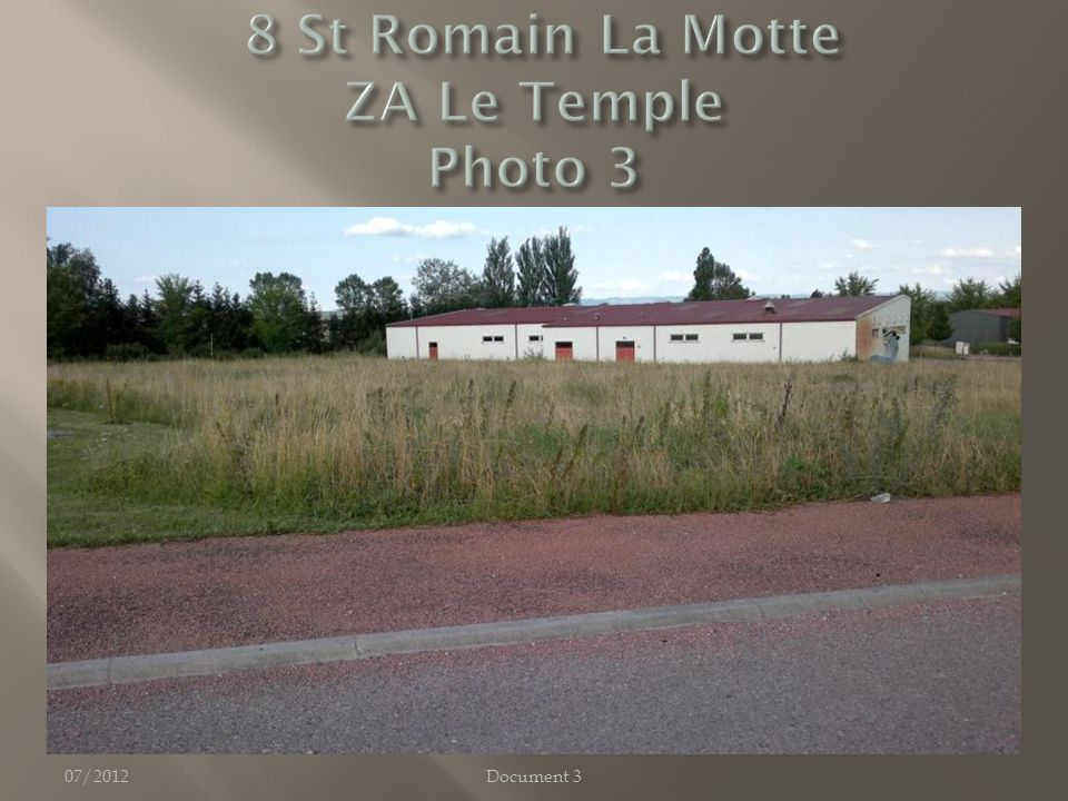 07/2012Document 3 Zone hors périmètre Grand Roanne, -> terrain à priori disponible