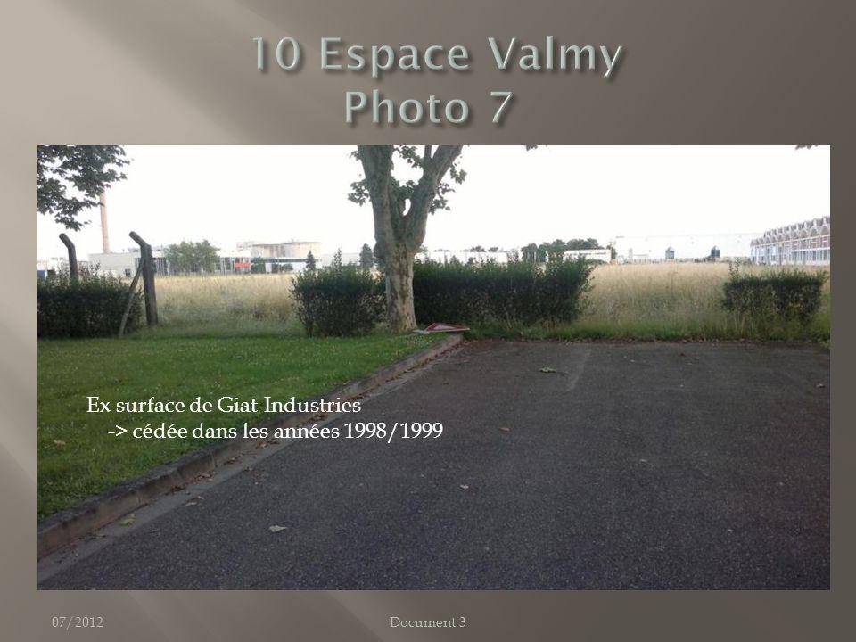 07/2012Document 3 Ex surface de Giat Industries -> cédée dans les années 1998/1999